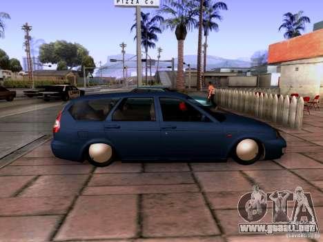 Lada Priora sedán para GTA San Andreas left