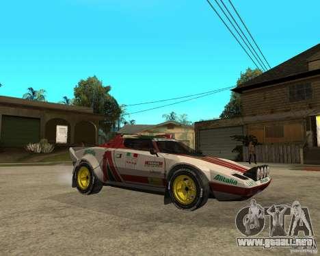 Lancia Stratos para la visión correcta GTA San Andreas