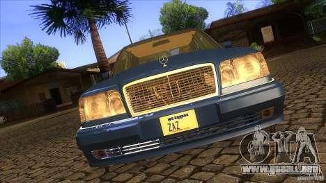 Mersedes-Benz E500 para vista inferior GTA San Andreas