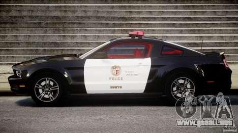 Ford Mustang V6 2010 Police v1.0 para GTA 4 left
