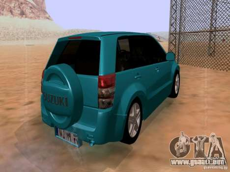 Suzuki Grand Vitara para GTA San Andreas vista posterior izquierda