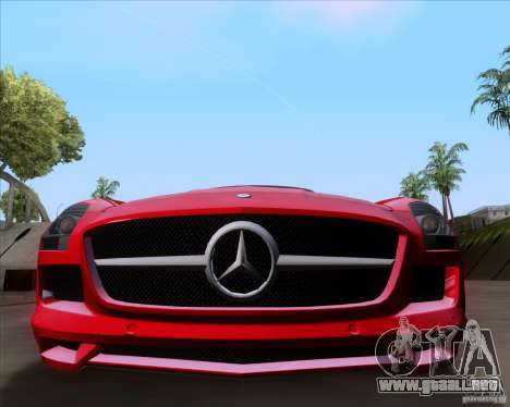 Mercedes-Benz SLS AMG V12 TT Black Revel para GTA San Andreas vista posterior izquierda