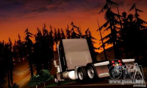 Freightliner Classic XL para GTA San Andreas vista posterior izquierda