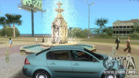 Renault Megane Sedan para GTA Vice City visión correcta
