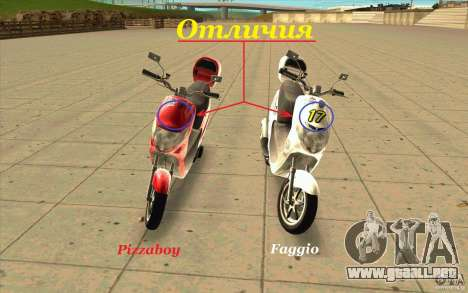Suzuki Addres para GTA San Andreas left