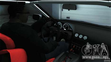 Nissan 240SX S13 Drift Alliance para GTA San Andreas vista hacia atrás