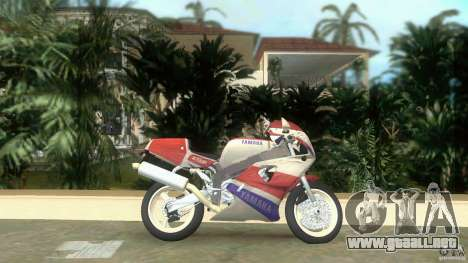 Yamaha FZR 750 white lighted para GTA Vice City left