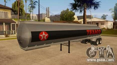 Tanque semi-remolque para GTA San Andreas vista hacia atrás