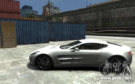 Aston Martin One 77 para GTA 4 left