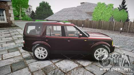 Land Rover Discovery 4 2011 para GTA 4 vista interior