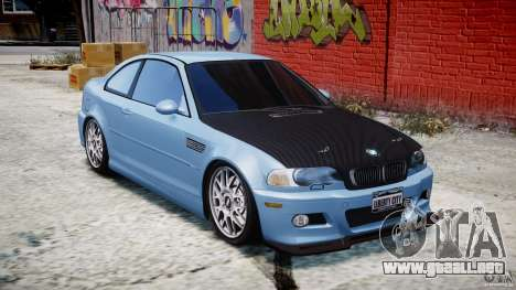 BMW M3 E46 Tuning 2001 para GTA 4 vista interior