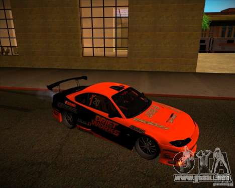 Nissan Silvia S15 Drift Works para GTA San Andreas left