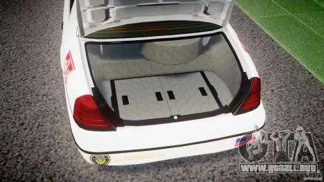 Ford Crown Victoria US Marshal [ELS] para GTA 4 vista lateral