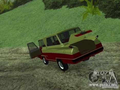 Vehículo Start v1.1 para GTA San Andreas vista hacia atrás