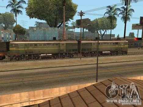 2Te10l locomotora diesel para GTA San Andreas left
