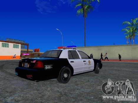 Ford Crown Victoria San Andreas State Patrol para la visión correcta GTA San Andreas