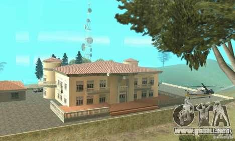 Una Villa para GTA San Andreas sucesivamente de pantalla