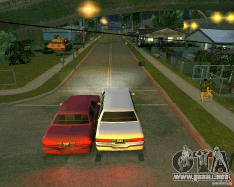 Elegant Limo para GTA San Andreas vista hacia atrás