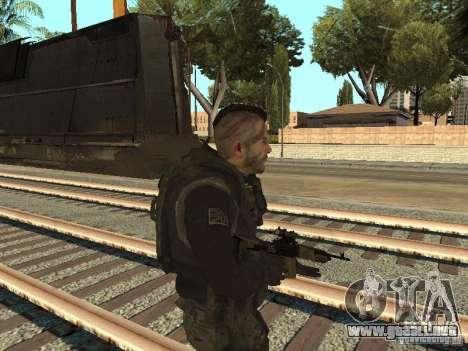 Captain MacTavish para GTA San Andreas segunda pantalla