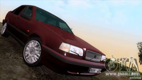 Volvo 850 Final Version para vista lateral GTA San Andreas