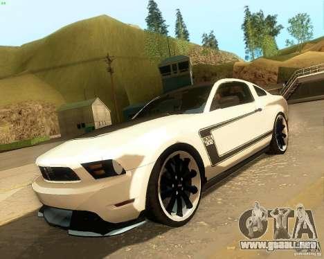 Ford Mustang Boss 302 2011 para GTA San Andreas