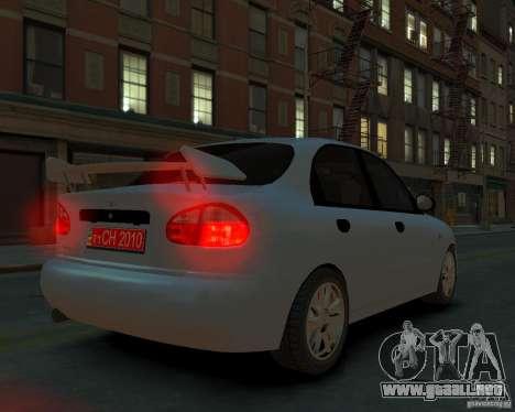 Daewoo Lanos para GTA 4 left