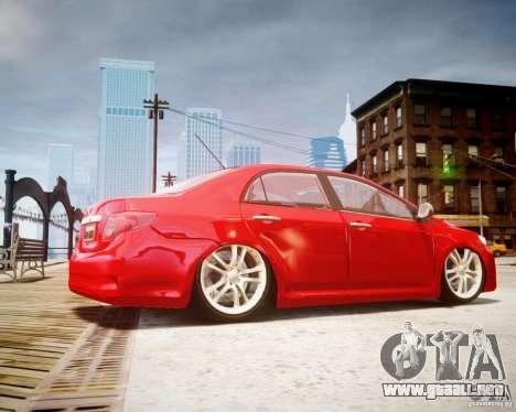 Toyota Corolla 2009 para GTA 4 left