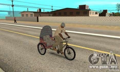 Manual Rickshaw v2 Skin5 para la visión correcta GTA San Andreas