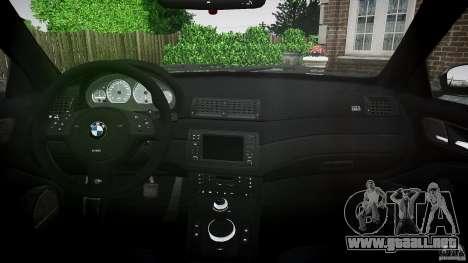 BMW M3 e46 2005 para GTA 4 visión correcta