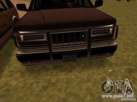 Mountainstalker S para GTA San Andreas vista posterior izquierda