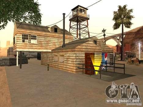 Nuevas instalaciones para el aeropuerto en el de para GTA San Andreas segunda pantalla