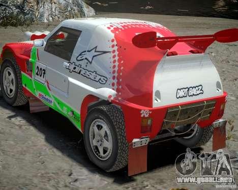 Mitsubishi Pajero Proto Dakar EK86 vinilo 2 para GTA 4 vista superior