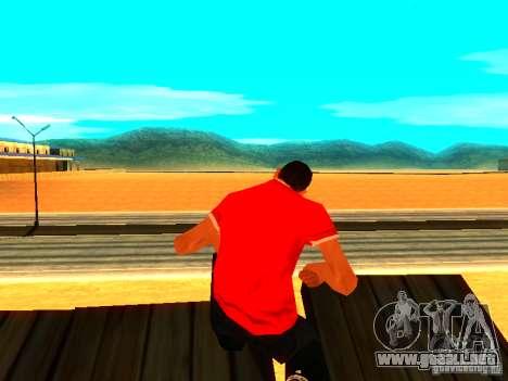 Reportero de piel para GTA San Andreas segunda pantalla