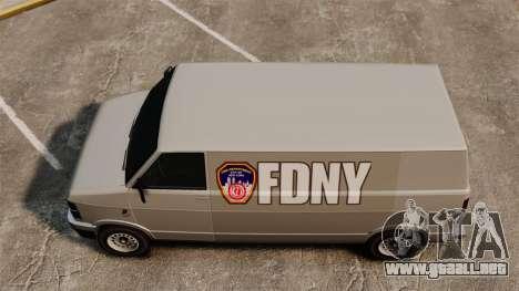 Nuevo para colorear para camioneta Pony para GTA 4 visión correcta