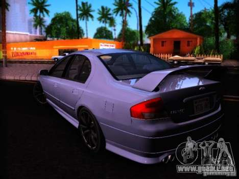 Ford Falcon FPV F6 TYPHOON XR8 2007 para GTA San Andreas left