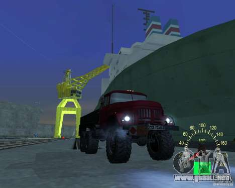 ZIL 131 petrolero para visión interna GTA San Andreas
