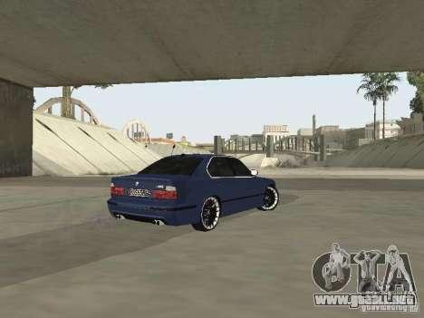 BMW M5 E34 V2.0 para GTA San Andreas vista posterior izquierda