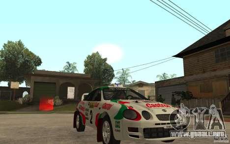Toyota Celica GT4 DiRT para GTA San Andreas vista hacia atrás