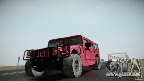 Hummer H1 Alpha Off Road Edition para GTA San Andreas vista hacia atrás