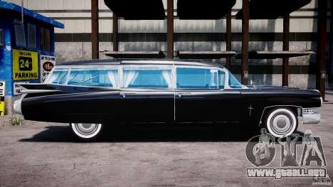 Cadillac Miller-Meteor Hearse 1959 para GTA 4 vista hacia atrás
