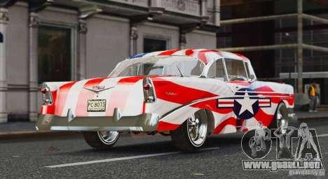 Chevrolet Bel Air Light Custom 1956 para GTA 4 Vista posterior izquierda
