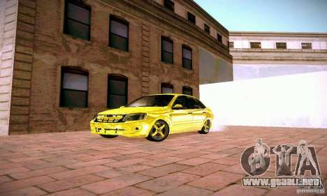 Lada Grant oro para GTA San Andreas vista hacia atrás