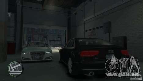 Audi A8 V8 FSI para GTA 4 vista desde abajo