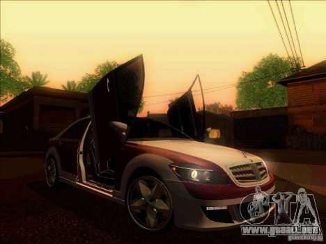 Mercedes-Benz S600 AMG WCC Edition para visión interna GTA San Andreas