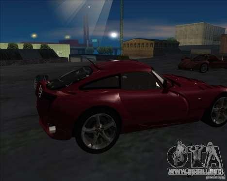 TVR Sagaris para GTA San Andreas left