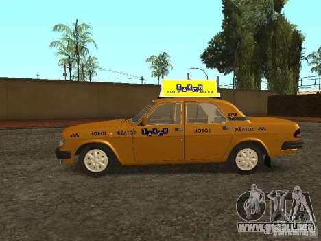 GAZ 3110 Taxi para GTA San Andreas left