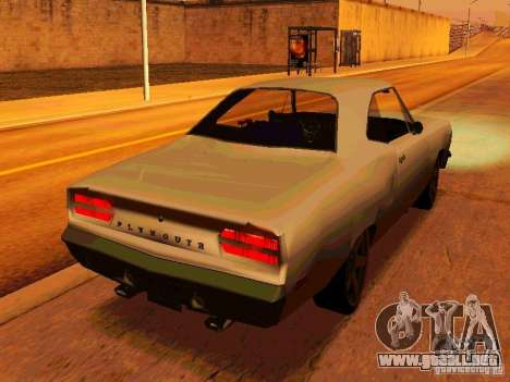 Plymouth Road Runner 426 HEMI 1970 para la visión correcta GTA San Andreas