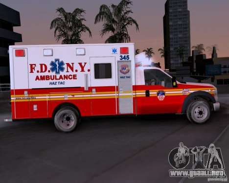 Ford F-350 F.D.N.Y para GTA San Andreas left