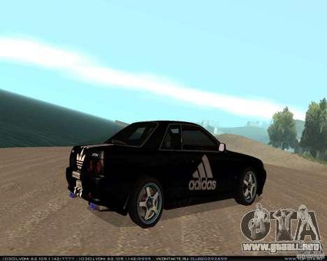 Nissan Skyline R32 GT-R + vinilo 3 para la visión correcta GTA San Andreas