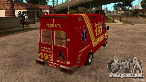 Iveco Daily UR Bombeiros SP para la visión correcta GTA San Andreas